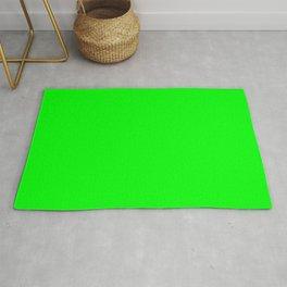 Solid Bright Green Neon Color Rug