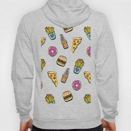 Fast Food Heaven Illustrated Pattern Hoody