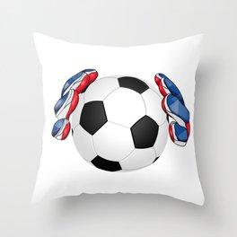 Soccer,football Throw Pillow