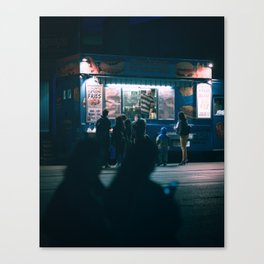 One cold night Canvas Print