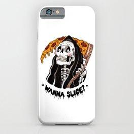 Grim Pizza iPhone Case