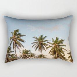 Sky beach palmier Rectangular Pillow