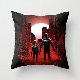 Quarantine: Joel and Ellie Throw Pillow