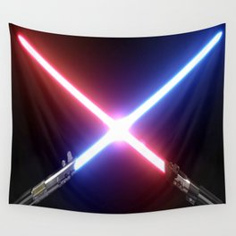 Saber Fight Wall Tapestry