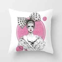 fancy Throw Pillows featuring Fancy by Tania Santos
