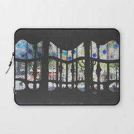 Looking though Casa Batllo's stained-glass panes  Laptop Sleeve