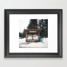 Slocan City Bus Stop Framed Art Print