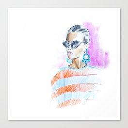Watercolor girl Canvas Print