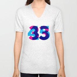 33/45 Unisex V-Neck