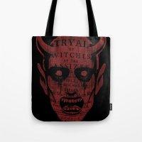 satan Tote Bags featuring Satan by Gurven