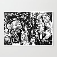 sons of anarchy Canvas Prints featuring sons of anarchy by Jamie Clayton