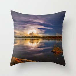 Lightening and Stars - a perfect combination Throw Pillow
