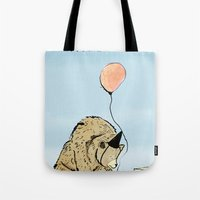 birthday Tote Bags featuring Birthday by Emily Stalley