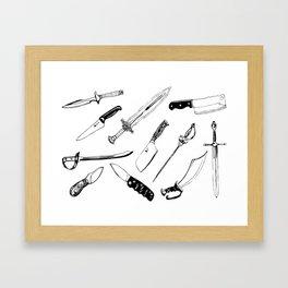 Swords and Knives Framed Art Print