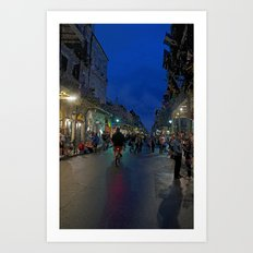 The French Quarter at Midnight Art Print