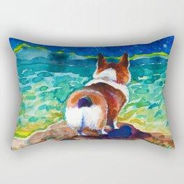 Corgi - sea admirer Rectangular Pillow