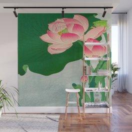 Ohara Koson Flowering Lotus 1930s Japanese Woodblock Print Vintage Historical Japanese Art Wall Mural