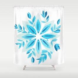 Blue floral arrangement Shower Curtain