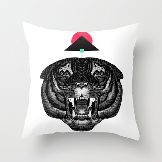 Roar My *--Tiger--* Throw Pillow