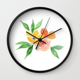 Small Bouquet Wall Clock
