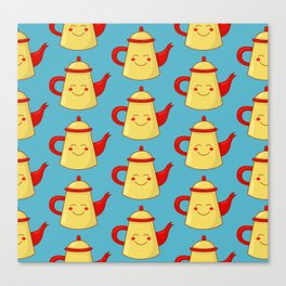 Tea pot smile Canvas Print