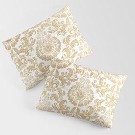 Gold foil swirls damask 16 Pillow Sham