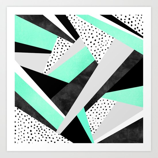 Crazy Fun Turquoise Art Print