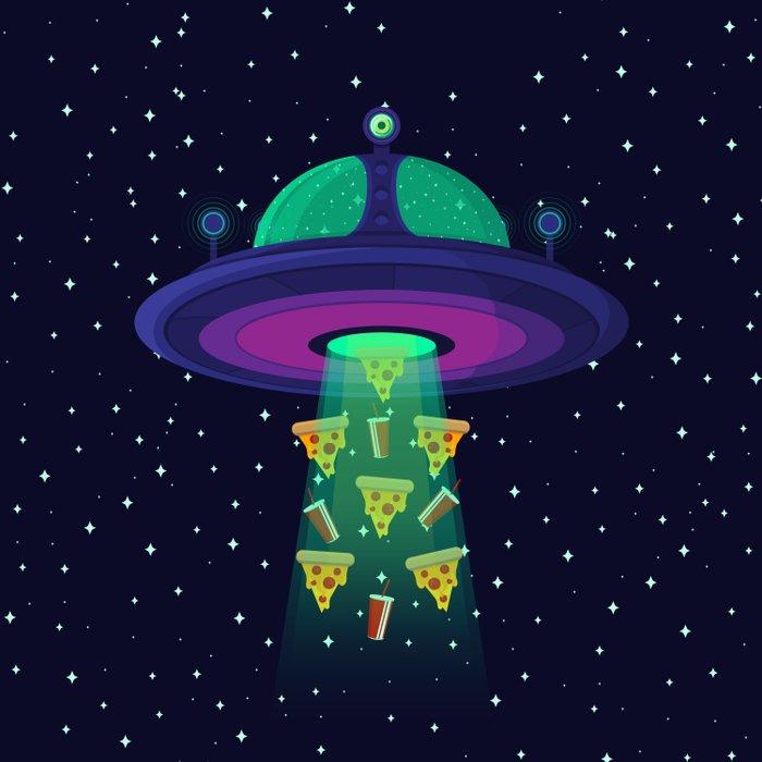 Alien Munchies Duvet Cover