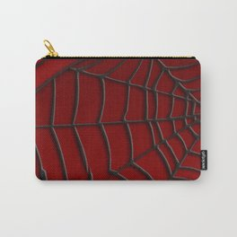Red SpiderWeb Pattern Carry-All Pouch