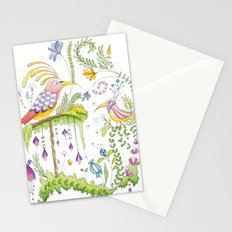garden and birds Stationery Cards