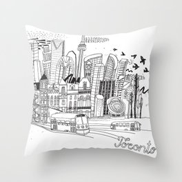Toronto in Canada Throw Pillow