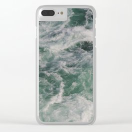 Waves In Niagara Falls   Landscape Photography   Minimalism   Water   Sea Waves   Green Ocean Waves Clear iPhone Case