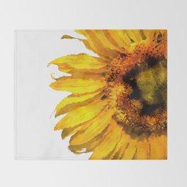 Simply a sunflower  Throw Blanket