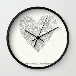 Coded heartprint Wall Clock