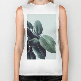 Ficus Elastica #22 #LightGreen #foliage #decor #art #society6 Biker Tank