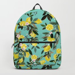 Summer Lemon Floral Backpack
