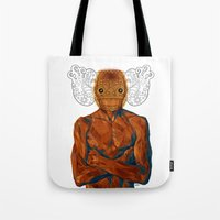 demon Tote Bags featuring Demon by Rofi