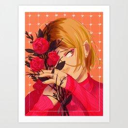 Kenma and flowers Art Print