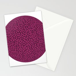 Turing Pattern Sphere (Purple Pink) Stationery Cards