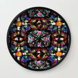 Ecuadorian Stained Glass 0760 Wall Clock