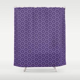 Feminine Energy Deep Purple and Lavender Lines Female Spirit Organic Shower Curtain
