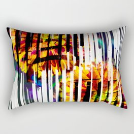 Floral Keys [orange+wave] Rectangular Pillow