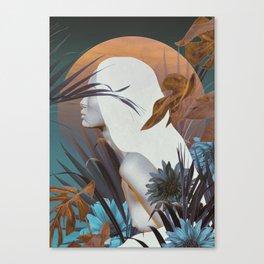 Golden Tropical Garden Canvas Print