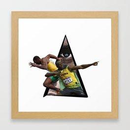 Youtriangle ∆ Usain Bolt Framed Art Print