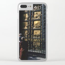 Vintage Color Photo * Kodachrome * 1950's * Paradise Doors * Florence * Italy * Italian Clear iPhone Case
