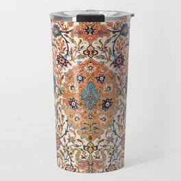 Isfahan Antique Central Persian Carpet Print Travel Mug