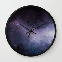 Amethyst Galaxy Wall Clock