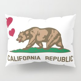 California Republic Bear with Hearts Pillow Sham
