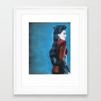 ouat Framed Art Prints featuring ouat evil queen by laurensarts