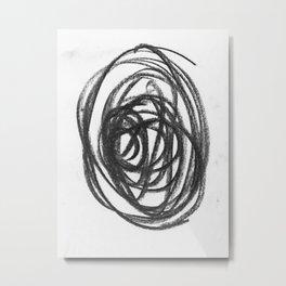 Scribble Circle Metal Print